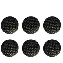 SODIAL(R) Reemplazo 6pcs Analog Joystick palillo Tapa Boton para Sony PSP 1000 Negro