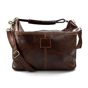 Herren leder reisetasche sporttasche schultertasche damen umhängetasche raumbeutel leder sporttasche braun reisetasche made in Italy