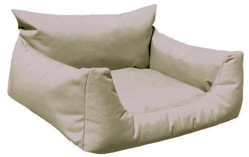 tierlando® N2-14 Hundebett NEMO | fest gewebtes Polyester | Hundesofa Hundekorb | Gr. M 80 cm Kakao-Beige (Kakao Hundebett)