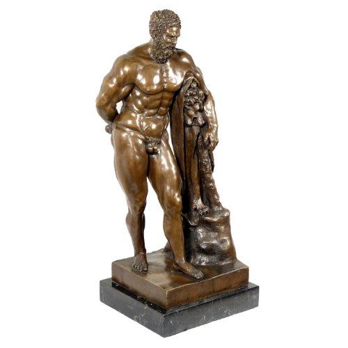 Kunst & Ambiente - Herkules Farnese Figur - Bronzefigur - Signiert - Antike Skulptur - Glykon von Athen - Nationalmuseum Neapel