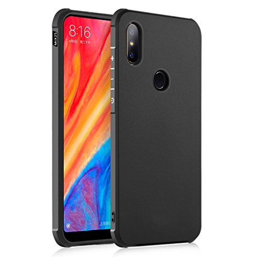 XiaoMi Mi Mix 2S Funda, Serie Negocios A Prueba de Choques Ultra Fino Suave Silicona Contraportada Caso para XiaoMi Mi Mix 2S (Negro)