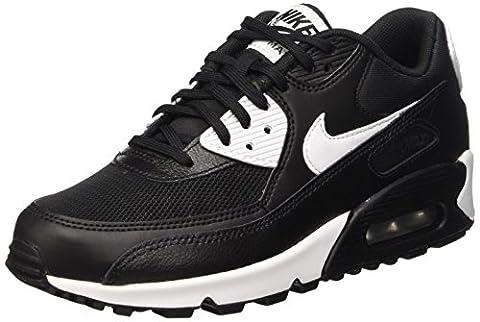 Nike Air Max 90 Essential, Baskets Basses Femme, Noir (Black/White/Metallic Silver), 38 EU