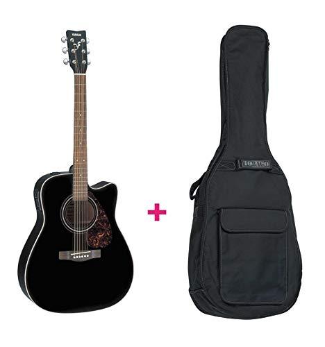 Set Yamaha FX370C BL aparatos electroacústicos (negro) Funda de guitarra