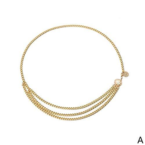 Designer-stil-gürtelschnalle (CCGAYD Mode Designer Marke Metallkette Gürtel Für Frauen Goldene Münze Persönlichkeit Hip Hop Stil Weibliche Quaste Gürtel Ceinture)
