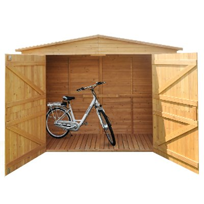 Gerätehaus XXL Schuppen Geräteschuppen Holzschuppen Geräteschrank Holz Bitumendach Holzhaus Holzhütte Gartenhaus Fahrradschuppen Gartenschuppen
