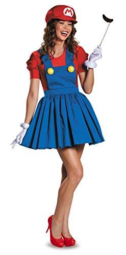 Bros Female Mario Costume Dress Junior 7-9 ()
