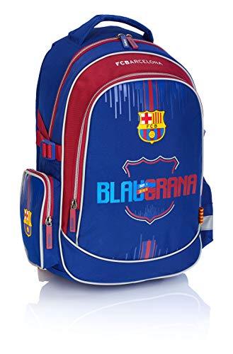 F.C. Barcelona Jungen FC-222 Barca Fan 7 Rucksack, Navy Blue/Burgundy, 44 x 29 x 13 cm