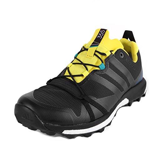adidas Terrex Agravic GTX Dark Grey Black Yellow 45