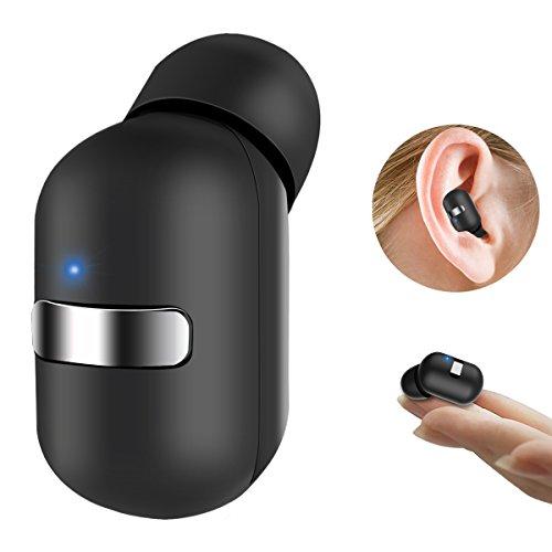 Bovon Bluetooth Kopfhörer Mini Ohrhörer 4.1 Kabellose in Ear Kopfhörer (Ein Stück) mit Mikrofon und Magnetischer Ladegerät, Wireless Car Headset für iPhone ipad Laptop Samsung Telefone usw