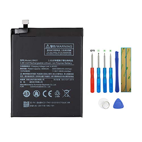 Swark BN31 - Batería para Xiaomi MI 5X MI A1 Note 5A (con herramientas)