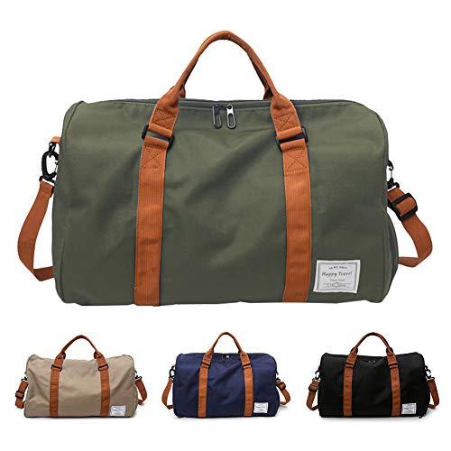 fb7afc7eed809 FEDUAN Handgepäck mit Schuhfach Trainingstasche Fitnesstasche Gym-Tasche  Sporttasche hochwertige Reisetasche Schultergurt Herren und Damen grün  Oliv