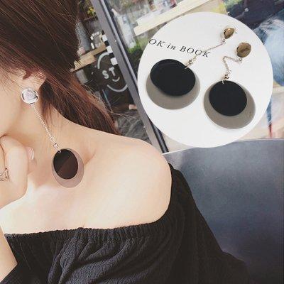 Kristall Mode Ohrschmuck Qualität Anhänger Ohrringe ohr Nagel Länge, das menschliche Ohr Ornamente, Dual Layer Disc Ohrringe ()