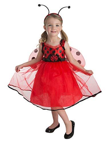 Für Kleinkind Marienkäfer Kostüm - Generique - Marienkäfer-Kostüm für Mädchen