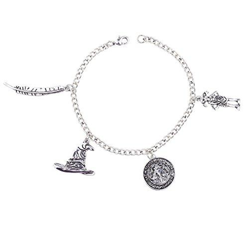 LUX Zubehör Silber Ton Zauberei Mystical Magic Neuheit Charme Armband (Michael Kors-charme-gold)