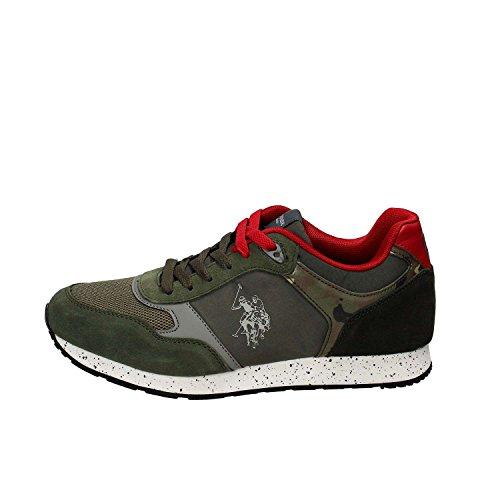 Scarpe Uomo US Polo Sneaker Running Tiguan Pelle Scamosciata/Tessuto Dark Blue US18UP19 Verde