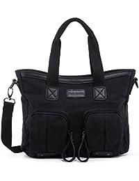 Hengwin Casual Canvas Top-Handle bolsa de hombro bolso de mano bolso de bolsa de todos los días para las mujeres Damas Chicas