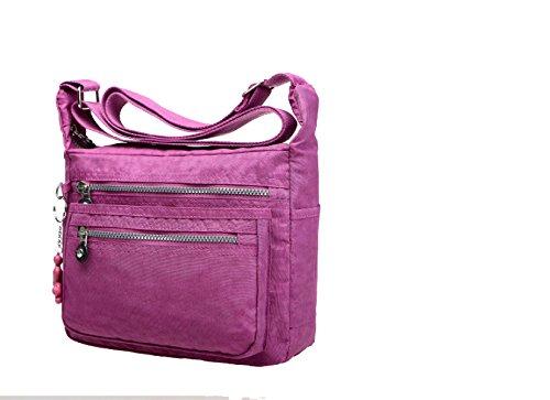 Il Tempo Libero Yy.f Borse Nuovo Multi-livello Borsa A Tracolla Impermeabile Sacchetto Di Nylon Di Tela Portatile Sacchetto Del Messaggero Di Viaggio Pacchetto Multi-color Purple