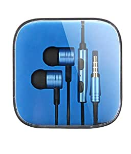 High quality 3.5mm Earphone Headphone Headset Hands Free For SONY XPERIA Z ULTRA BLUE