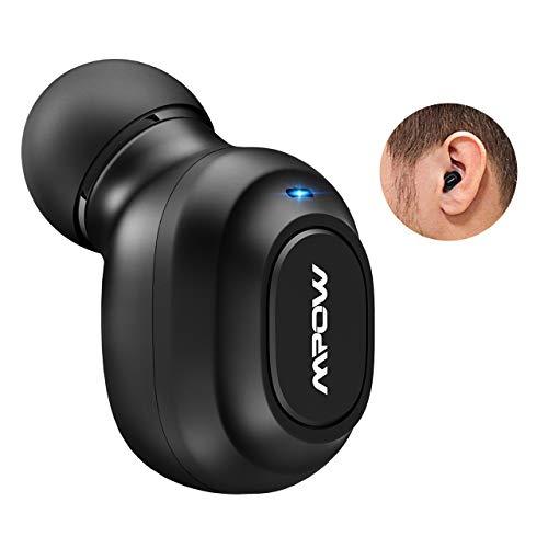 Mpow Auricolare Bluetooth 4.1+ EDR Mini Wireless Senza Fili con Gande Tasto, Bluetooth Auricolare Invisibile, Cuffia Bluetooth con Microfono Chiamate a Mani Libere per Cellulare Android, Apple, Samsung, PC