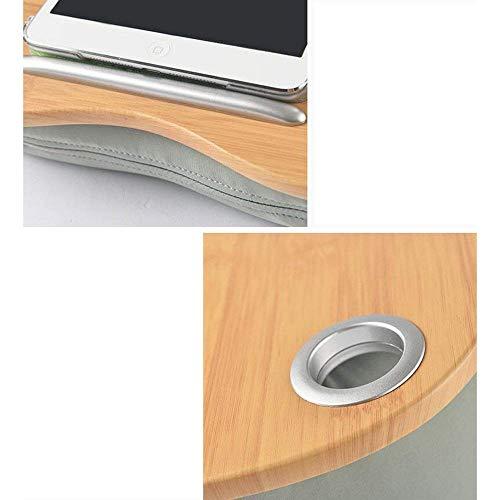 DEED Kleine Tabelle Haushalt Kissen Board Schreibtisch Runde Schreibtisch Laptop Tablett Lapdesk Tablet Arbeit Gaming Lesen oder Spaß auf Computer Ipad Einfache Moderne Schlafzimmer einfache Studie T -