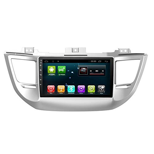 Car Radio GPS Player Android 7.1 Navigation for Hyundai Tucson IX35 2015-2018 Navi Stereo Multimedia Bluetooth WiFi Head Unit (2+32G Android8.0 for Tucson15)