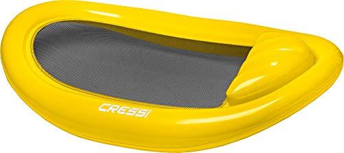 Cressi floating mattress am, materassino gonfiabile mare e nuoto unisex - adulto, nero/giallo, 114 x 178 cm