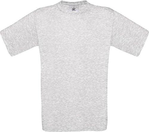 B & C Herren Casual Wear Baumwolle Tees TOP Short Sleeve Crew Neck Exact 190Shirt Grau - Ash
