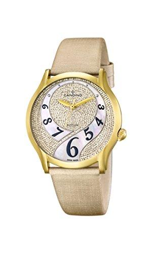 Candino - C4552/2 - Montre Femme - Quartz - Analogique - Bracelet Cuir beige