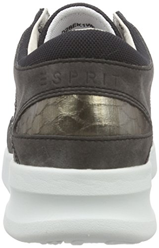ESPRIT Lune Lace Up Damen Sneakers Schwarz (001 Black)