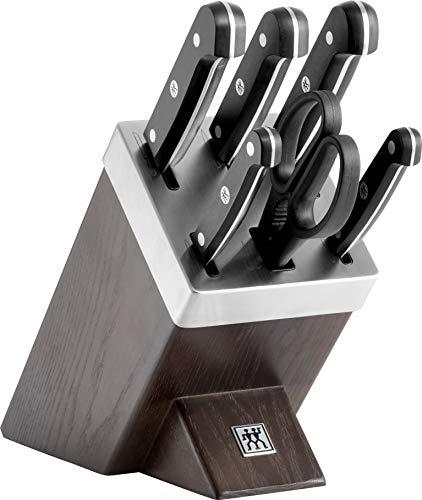 Zwilling 36133-000-0 Twin Gourmet Selbstschärfender Messerblock, Dunkelbraun, 7-teilig