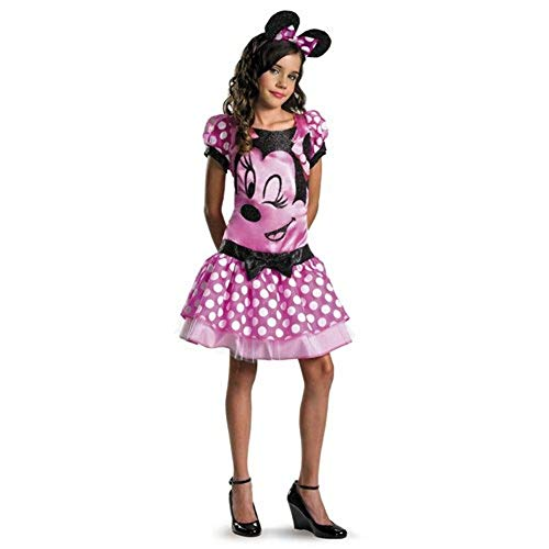 Clubhouse Minnie Mouse Pink Kostüm - Disguise 187309 Mickey Mouse Clubhouse-Rosa Minnie