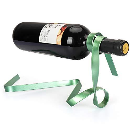 Yobansa Weinregal mit magischem Seil, schwebend, aus Metall, Weinflaschenhalter für Bars,...