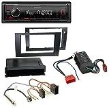 Kenwood KMM-205 MP3 AUX USB 1DIN Autoradio für Audi A4 B6 B7 00-08 Symphony Bose Aktivsystem Mini-ISO