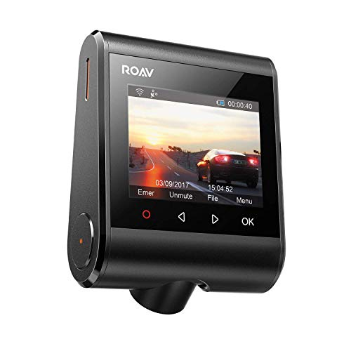 """ROAV Dashcam GPS S1 von Anker, WiFi Auto Kamera mit 2.4\"""" LCD Display, 1080P Full HD, 145° Weitwinkel, G-Sensor, WDR, Nacht Modus, inkl. 32 G SD Karte und Kfz Ladegerät (Zertifiziert Generalüberholt)"""
