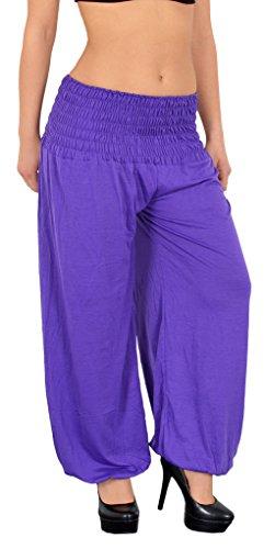Pantalon Sarouel pour Femme Pantalon Pump Femme Pantalons Harem pour Dames Pantalon de Yoga S01 pourpre