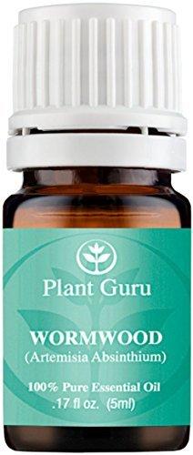 Plant Guru Huile essentielle d'absinthe. (Artemisia absinthium) 5 ml. 100% pur, non dilué, thérapeutique grade. par  Plant Guru