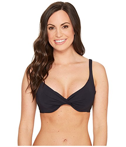 Bleu Rod Beattie Damen Cruise Control Over The Shoulder Underwire D-Cup Bikini Top - Schwarz - 85D -