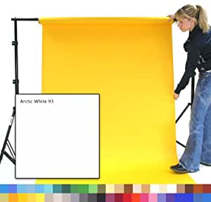 ARCTIC WHITE Creativity Photographic Studio Background Paper, 1.35m wide x 11m long, 180gsm heavyweight Backdrop SPECIAL OFFER - 4 for the price of 3