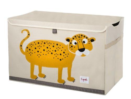 3 Sprouts Leopardo - Arcón juguetes, unisex