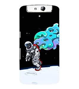 printtech Astronaut Abstract Space Back Case Cover for Oppo N1