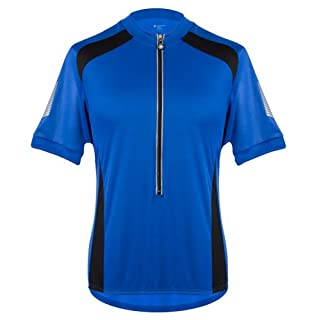 AERO|TECH|DESIGNS Tall Mens Elite Coolmax Cycling Jersey - Made in The USA (3XL, Royal)