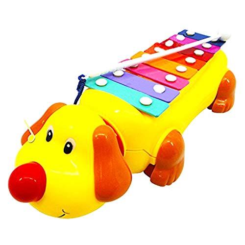 CUHAWUDBA 1 Stück Baby Kinder P?dagogisches Musikinstrument Spielzeug Niedlichen Hund Form Klopfen Klavier Kinder Drücken Ziehen Spielzeug Früh Lernen Violine Spielzeug Beste Geschenke (Spiele Mit Spielen Zu Welpen)