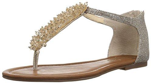Jessica Simpson Damen Kenton Gold Sparkle Mesh 38.5 M EU - Sparkle Mesh-sandalen