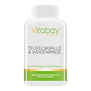 Teufelskralle & Weidenrinde – 90 Vegan Capsules – Provides harpagosides and Salicin