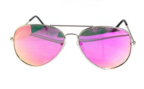 RetroUV® Premium voll verspiegelte Aviator Sonnenbrille Classic Metallrahmen Uv400