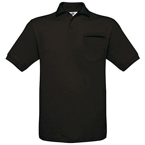 B&C Collection Herren Modern T-Shirt Schwarz