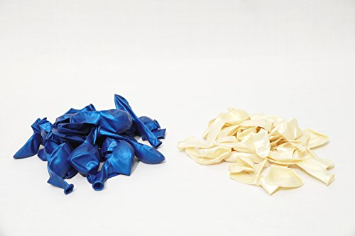 royal kart (dark blue & white) colour Metallic HD Balloons-pack of 300 balloons with Handy Air Balloon Pump (Multi color)