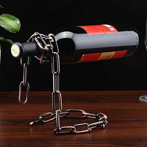 23FHF3N2N6-04D9Ffdw Neue Flasche 3 Farbe Multifunktionsmetall eine Flasche Wein-Präsentationsständer, Küche, Esszimmer, Keller, Bar Stand Inhaber Regale, Bronzekette -