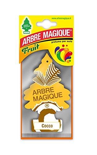 Arbre Magique Mono, Deodorante Auto, Fragranza Cocco, Profumazione Prolungata fino a  7 Settim