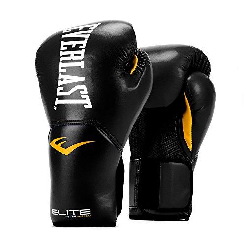 Everlast P00001240-10 Leather Training Boxing Gloves, Medium (Black)
